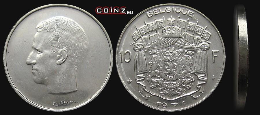 Coinz Eu 10 Francs 1969 1979 French Monety Belgii