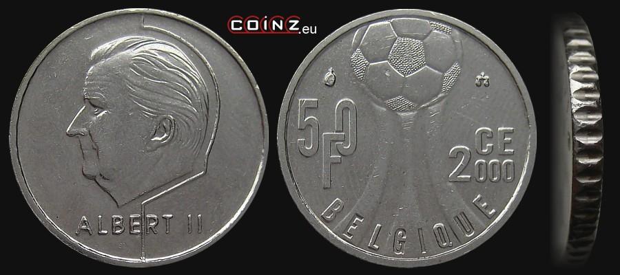 50 francs 2000 euro french belgian coins. Black Bedroom Furniture Sets. Home Design Ideas