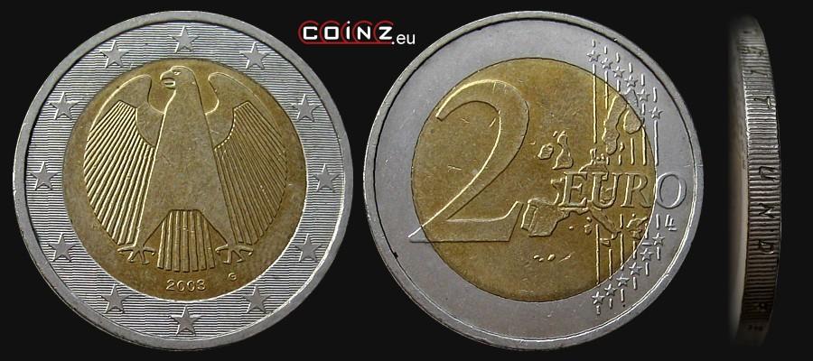 2 Euro 2002 2004 German Coins