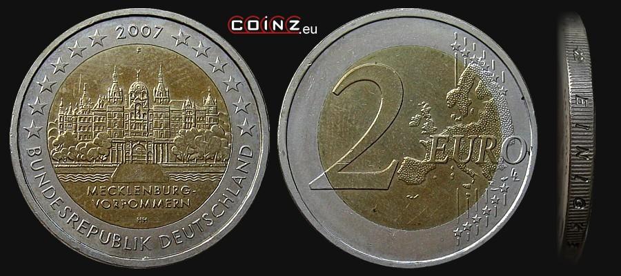 Coinzeu 2 Euro 2007 Mecklenburg Vorpommern German Coins