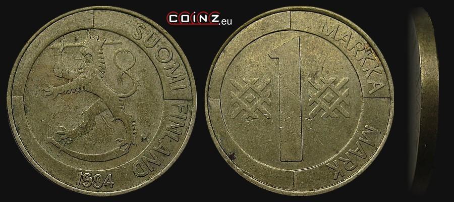 Coinz Eu 1 Markka 1993 2001 Coins Of Finland