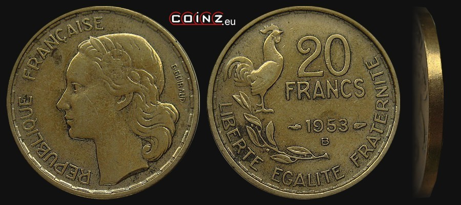 20 Francs 1950 1954 Coins Of France