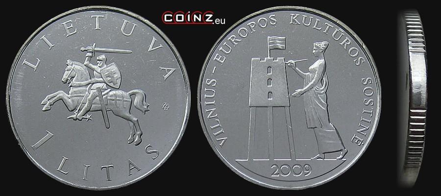coinz.eu • 1 litas 2009 Vilnius - Lithuanian coins