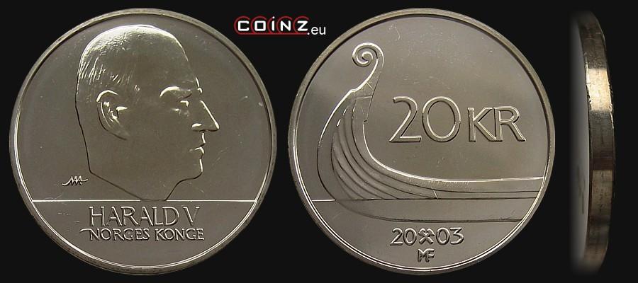 Coinz Eu 20 Kroner From 1994 Norwegian Coins