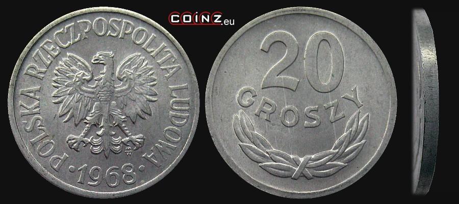 Монета 20 groszy 1957 какой рубль ценится